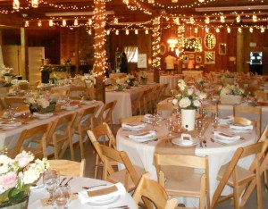 reception interior barn