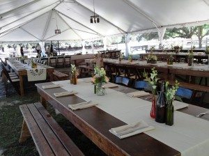Tent with Banquet Tables