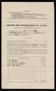 Southern Claims Commission Submitted by M. A. Foy