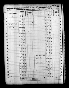 1860 Slave Schedule JM Foy Household